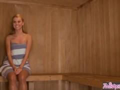 Twistys  - Sexy lesbian teens Jessie Rogers , Melissa XoXo - Love In The Sauna Thumb