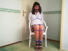 Teen Ballgagged and Chair tied Thumb