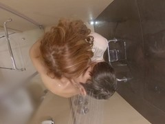 Hidden Camera Ginger Shower - Tender Kisses into Hot Wet Fucking to Cumshot Thumb
