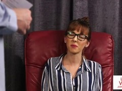 British CFNM office voyeur enjoys JOI Thumb