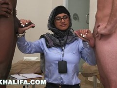 MIA KHALIFA - Your Favorite Arab Pornstar Milking Two Cocks Just For Fun Thumb