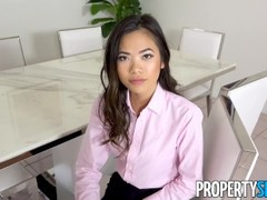 PropertySex - Naughty Asian real estate agent fucks her boss Thumb