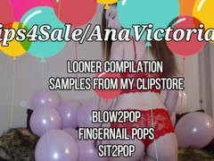 AnaVictoriaXO - Sexy Looner Big Tits Popping Balloons Compilation Thumb