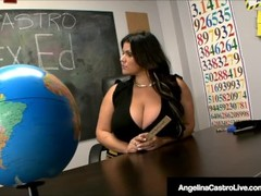 Ms. Angelina Castro Has 3Some In Class With Tara Lynn Holmes Thumb