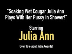 le:   Soaking Wet Cougar Julia Ann Plays With Her Pussy In Shower! Thumb
