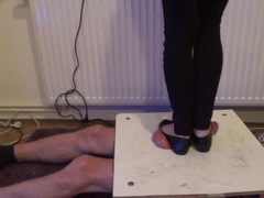 Stomping and jumping on cock and balls in balerinas 2 - Cruel CBT Trample Thumb