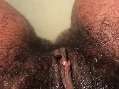 Masturbating my hairy pussy in the tub. JUICY Thumb