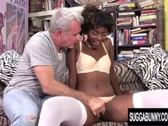Ebony Sweetheart Daizy Cooper Is Pussy Plowed by an Older White Man Thumb