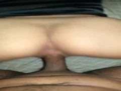 Brunette Skunk Taken Like A Dog - POV Thumb