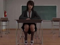 3D cowgirl with dildo in classroom PV Thumb