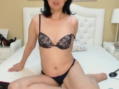 Flirt4Free Model Sandra Mia - Asian Milf Seduces Both Her Willing Cougar Holes Thumb