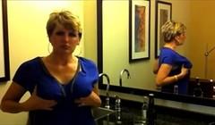Hot blonde milf teasing sucking dick and drink cum Thumb
