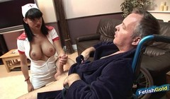 Incredibly hot busty nurse takes care of patient's big cock Thumb