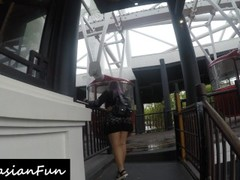 Thick Asian Slut Fingers Pussy & Rides Black Cock On Ferris Wheel Thumb