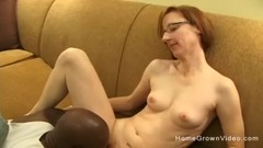 Tiny redhead mature gets fucked by a big black dick Thumb