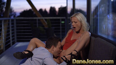 Dane Jones Cute blonde Zazie Skymm outdoor pussy licking and passionate sex Thumb