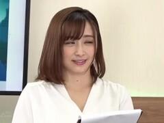Japanese News Report with Vibrator Thumb
