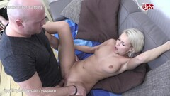 MyDirtyHobby - Shy blonde fitness babe swallows at her first casting Thumb