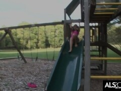 Sadie Grey Gets Off on the Play Ground Thumb