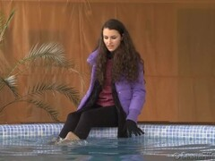 wetlook pool with jacket and boots Thumb