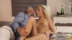 DADDY4K. Blonde angel doesnt need flowers but wants mature penis Thumb