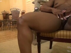 Ripped black female bodybuilder with a big clit Thumb